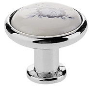 Ceramic Button Drawer Handle(Silver)