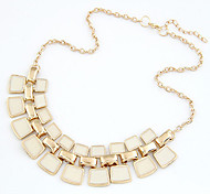 Women's Hollow Out Enamel Short Alloy Bib Necklaces