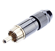 RCA Welding Adapter Male Vergulde White OD6.3mm voor Video Home Theater