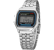 Women's Watch Dress Watch Multi-Function Square Digital LCD Dial Alloy Band Wrist Watch Cool Watch Unique Watch