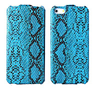 Snake Skin Pattern PU Flip Case with Microfiber Protection for iPhone 5/5S (Optional Colors)