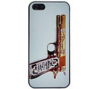 raffiné de luxe pistolet anti-rayure cas dur de pc mat de modèle pour l'iphone 5/5s