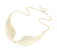 Exaggerate Hollow Wings Golden Necklace