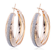 European Style Fashion Gold Plated Glitter Matte Earrings