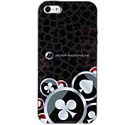 Club Poker Texture TPU Soft GEL Back Cover Skin Case for iPhone 5/5S