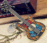 European and American retro sweater chain diamond guitar N41