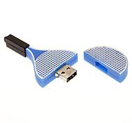 4GB in gomma morbida blu Racchetta USB Flash Drive