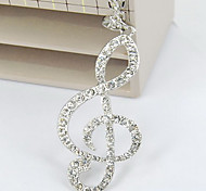 Fashionable music symbols over drilling long necklace sweater chain female long section notes flash diamond chain N551
