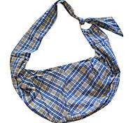 marrón rejillas patrón único pendiente hombro portadora bolsa pack para mascotas perros
