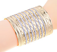 Lureme®Glitter Carve Bangle Cuff