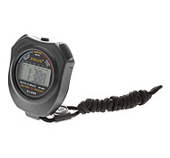 Unisex Multi-Function Plastic LCD Digital Stop Watch with Timer (Black)