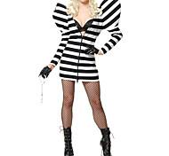 Hot Singer Black and White Stripes Women's Costume