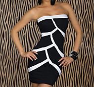 Club Girl Black Sexy Strapless Party Dress Women's Costume