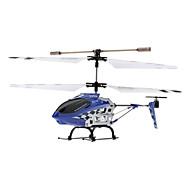 SYMA S107N 3 kanaals infrarood afstandsbediening Mini Helicopter met Gyro en LED (Rood, Blauw, 6xAA)