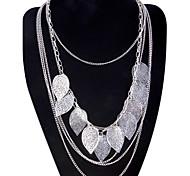 Жен. Ожерелья с подвесками Заявление ожерелья В форме листа Сплав Мода Богемия Стиль Многослойный Длинный бижутерия Бижутерия Назначение