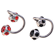Lureme®Gun Color Plated Stainless Steel Zircon Navel/Ear Piercing(Assorted Color)