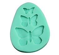 3d borboleta molde de silicone molde em forma (cor aleatória)