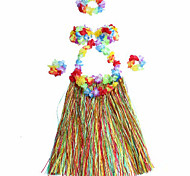 Multicolor Hawaii Dança Saia + + Corsage Garland