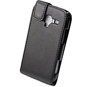 Elegant PU Leather Full Body Flip Case Cover for Samsung Galaxy Ace 2 I8160-Black