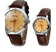 EYKI Couple's Classic Dial Leather Band Quartz Analog Wrist Watch (Assorted Colors) Cool Watches Unique Watches