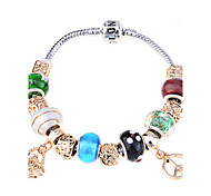 Fashion Alloy Gold Plated Charm Bracelet