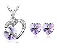 Diamond Austrian Crystals Jewelry Set