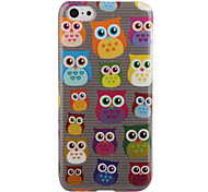 Cartoon Owls with Heart Pattern Dress Hard Back Case for iPhone 5C
