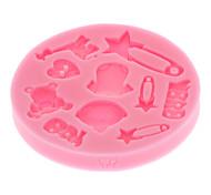 3D Baby Fondant Cake Mold,Food-grade Silicone Mold ,Chocolate Candy Soap Mold,Bakeware(Random Color)
