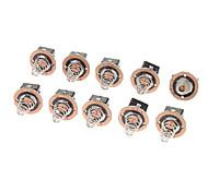 4,08 milímetros de substituição Reparação Clicky Switch para lanterna - preto (10-Piece Pack)