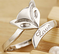 Z&X®  (1 pc)Sweet Women's Silver Alloy Rings