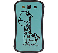 Adorável Giraffe TPU Silicone Gel Capa Case for Samsung Galaxy S3 I9300