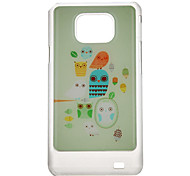 Lovely Owlet Pattern Protective Hard Back Case Cover for Samsung Galaxy S2 I9100
