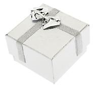 Vierkante strik Paper Rings Boxen - Zilver