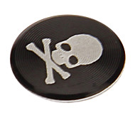 Skull Print Alloy Red Home Button Sticker for iPhone/iPad/iPod