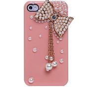 Parel strik hanger Sieraden Overdekte Back Case voor iPhone 4/4S