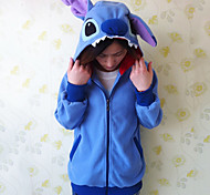Unisex Polarfleece blauen Stich kigurumi Hoodie