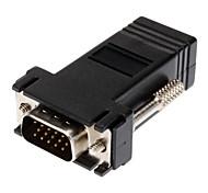 DB9F/RJ-45 M/F Modular Adaptor