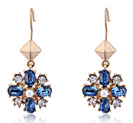 Korean Fashion Delicate Flower Gold Plating Earrings