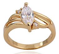(1 Stück) Classic Damen Transparent Zirkon Ringe (7 # 8 #)