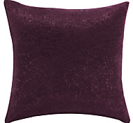 "18"" Square Traditional Solid Color Red Polyester Decorative Pillow Cover"