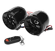 FM/USB/SD/MP3 Player Alarm Speaker for Motorcycle (2-Piece)