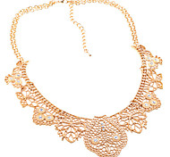 Lureme®Gold Plated Vintage Hollow Choke Necklace