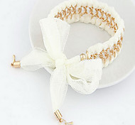 Metal Chain Cloth  Bracelet