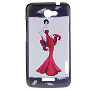 Red Skirt Lady Pattern Plastic Material Hard Case for HTC ONE X