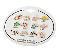 Triple Star Stud Earrings(Random Color)