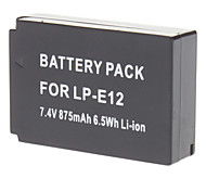 LP-E12 Replacement 700mAh Li-ion Battery for CANON EOS M - Black