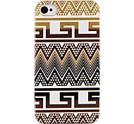 Оригинальность ручная роспись ткани полосой Назад Чехол для iPhone 4/4S