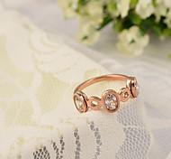 Розовое золото Стекло Rhinestone кольца