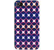 Special Design Navy Artistic Pattern Protective Hard Case for iPhone 4/4S