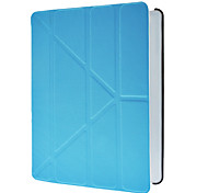 Reposo automático y despertador azul caja de la PU de cuerpo completo con la cubierta elegante, soporte y Protección Flocado interior para iPad 2/3/4